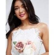 ASOS BRIDAL Lace Cami Midi Dress - White
