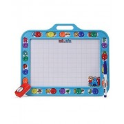 toyztrend educational hide n seek slate writing board 2 in 1 blue colour small for kids to write and learn their preschool lessons with chalk and marker