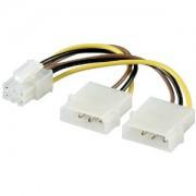 "Cablu PC; mufa PCI-E 6 pini la mufa 5.25"" M; mufa 5.25"" M; 0.1m"