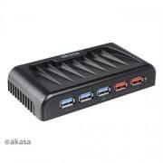 AKASA AK-HB-11BK 7-portový externý USB 3.0 HUB,