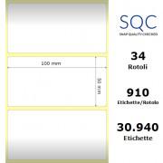 Etichette SQC - Carta patinata (bobina), formato 100 x 50