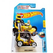 Hot Wheels, 2016 Hw Ride Ons, Grass Chomper Ride On Lawn Mower [Yellow] Die Cast Vehicle 69/250