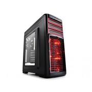 DEEPCOOL KENDOMEN RD MID TOWER COMPUTER CASE (RED)