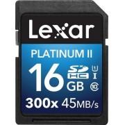 Card de memorie Lexar SDHC Platinum II 300x 16GB, UHS-I, 45MB/s (Clasa 10)