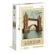 Clementoni - 30585.8 - Puzzle - Carte postale de Londres - 500 Pièces