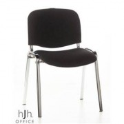 Hjh Silla de Confidente Economica MOBY, patas cromadas, Precioso color Negro