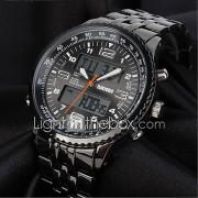 SKMEI Heren Militair horloge Modieus horloge Polshorloge Digitaal horloge Kwarts Digitaal Japanse quartzLCD Kalender Chronograaf