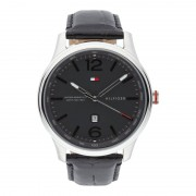 Tommy Hilfiger Uhr aus Edelstahl mit Armband aus echtem Leder