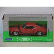 Welly Nex Models 1970 Ford Mustang Boss 302 Red 1:24 Scale Die Cast Model Car