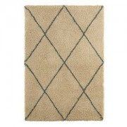 Colours Kitah Cream & Blue Diamond Lines Rug (L)2.3m (W)1.6m