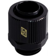 "Swiftech Lok-Seal 1/4"" Thread Compression Fitting for 3/8"" ID - 1/2"" OD (10-13mm) Tubing : Black"