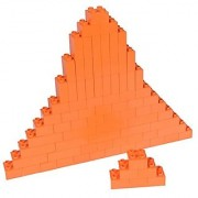 Premium Big Briks Orange Basic Builder Set #1 - 84 Pack - (Big LEGO DUPLO Compatible) - Large Pegs