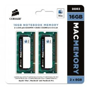 Corsair CMSA16GX3M2A1333C9 Apple Mac Kit di Memoria da 16 GB (2x8 GB), DDR3, 1333 MHz, Apple Certified, SODIMM