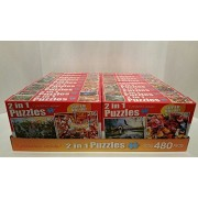 """Jigsaw Puzzle Bundle Of 18 Boxes """"2 In 1 Puzzles"""" 480 Pieces Per Box."""