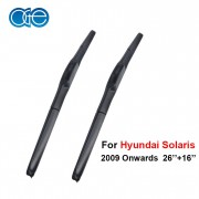 Oge 26''+16'' Wiper Blades For Hyundai Solaris 2009 2010 2011 2012 2013 2014 2015 Windscreen Car Auto Accessories