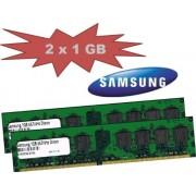 Mihatsch-Trading - RAM Samsung 2GB Dual Channel SAMSUNG, 2 x 1 GB, 240 pin DDR2-667, 667 Mhz, PC2-5300U, CL5, unbuffered, componente M378T2953QZS-CE6, per schede madri DDR2