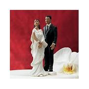 Indian Bride in White Sari Mix & Match Cake Topper