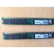 Barette Mémoire Ram Pc 1Go Gb DDR2-667 SdRam PC2-5300 CL5 KINGSTON KVR667D2N5/1G