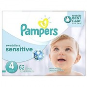 Pampers Swaddlers Sensitive Diapers Size 4 Super Pack 62 Count 62 Count