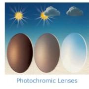 III. Generációs fényre sötétedő műanyag (vékonyított) szemüveglencse 1,56 HMC+EMI