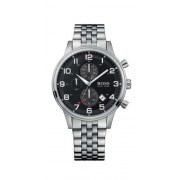 Hugo Boss 1512446 Men's Black Dial Stainless Steel Bracelet Watch