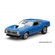 Sun Star Usa Ford Mustang Hard Top (1971, 1/18 Scale Diecast Model Car, Pastel Blue) 3616 Diecast Motorcycles And Cars