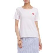 【60%OFF】コットンジャージー ワッペン Tシャツ ピンク l ファッション > レディースウエア~~その他トップス