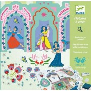 Djeco Stamps, Patterns and Stencil Kit, Scheherazades Tales