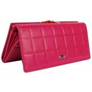 Dámská polokožená peněženka v krabičce Cossroll A113 růžová
