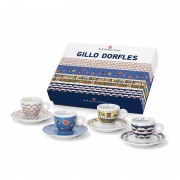 Set cesti cadou GILLO DORFLES Kit 1 (4 cesti espresso + 4 farfurii)