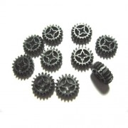 Lego Parts: Black Technic Gear 20 Tooth Double Bevel (PACK of 10 Loose Parts)