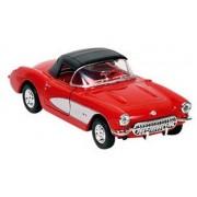 Goki Metalen chevrolet corvette 1957 rood met dak