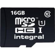 Card Memorie Integral MicroSDHC 16GB Clasa 10 + Adaptor SD inmsdh16g10-40u1