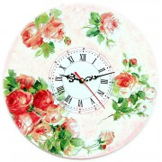 Ceas de perete trandafiri 1272