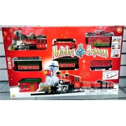 Vlak na baterije Holiday Express sa crvenom lokomotivom i 5 vagona