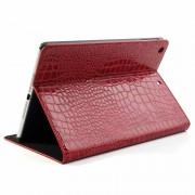 Capa Folio em Pele para iPad Air - Crocodilo - Vermelho