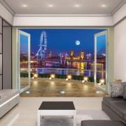 London kilátás - 3D hatású tapéta - Walltastic