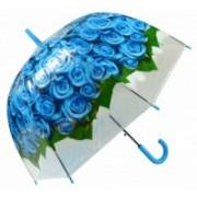 Deštník dámský vystřelovací holový růže modrý 9160-11 349