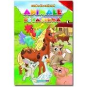 Animale De La Ferma. Romana - Engleza - Carte De Colorat