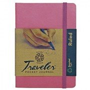 Pentalic Art Pentalic Lined Traveler Pocket Journal 4 -by-6 Orchid