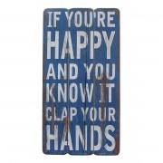 Decoratief paneel Clap Your Hands - blauw, My Flair