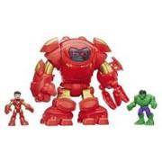 Set 3 Figurine Marvel Super Hero Adventures Playskool Tech Armour With Tony Stark