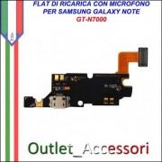 Flat Flex Cavo Ricambio Originale USB Microfono Connettore Carica per Samsung Galaxy NOTE N7000