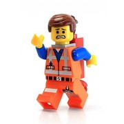 Lego Movie Loose Emmet Minifigure with Piece of Resistance (Grin)