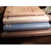 Lot De 4 Livres: Le Maître Des Quatre-Chemins (Reboul-Scherrer), Les Affluents Du Ciel (Jean-Guy Soumy), La Première Gorgée De Bière (Philippe Delerm), Le Vin Bourru (Jean-Claude Carriere)