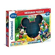 Clementoni 20232.4 - Message Mickey Mouse Clubhouse 104 Piece Jigsaw Puzzle