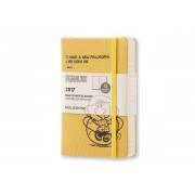 Moleskine 2017 Peanuts Limited Edition Daily Planner, 12m, Pocket, Yellow, Hard Cover (3.5 X 5.5)