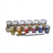 Watercolor Paint Jar Set with 6 Paint Jars (2 oz) with 6 Assorted Paints (20ml/.68oz) and Paint Brush
