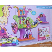 POLLY POCKET WALL PARTY TREEHOUSE Playset w TREE HOUSE has BASKET & SLIDE, Polly DOLL, CAT & More! (2012) by Mattel