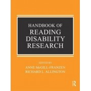 Handbook of Reading Disability Research by Richard L. Allington